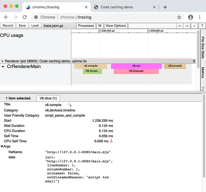 Code caching for JavaScript developers · V8